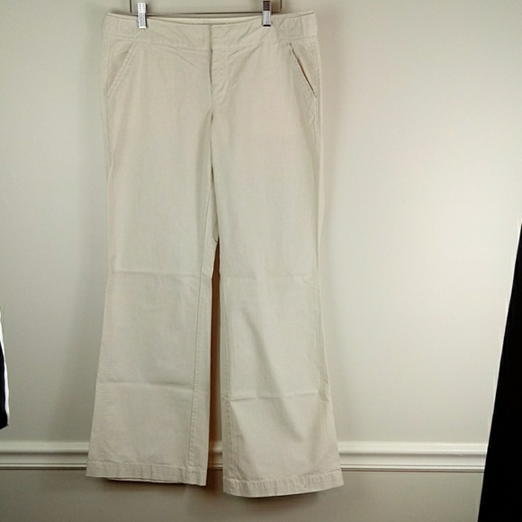 Old Navy Pants - Tan light oxford cloth wide leg trousers size 10